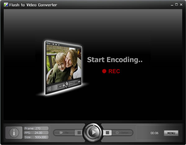Click to View Full ScreenshotFlash to Video Converter Pro. 1.41 screenshot
